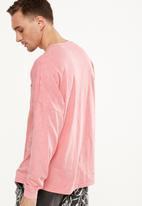 Cotton On - Drop shoulder long sleeve tee - pink