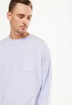 Cotton On - Drop shoulder long sleeve tee - purple
