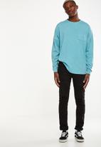 Cotton On - Drop shoulder long sleeve tee - blue