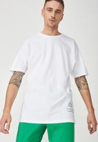 Cotton On - Drop shoulder longline tee - white