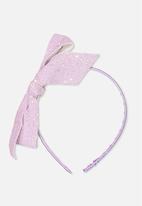 Cotton On - Glitter bow headband - purple