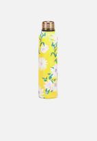 Typo - Small metal drink bottle - yellow daisy