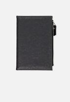 Typo - Travel zip journal - black tooled