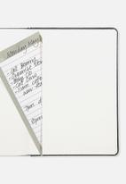 Typo - A5 buffalo journal - black tooled