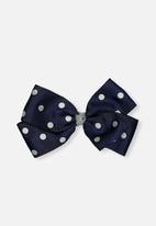 Cotton On - Kids big bow clips - navy