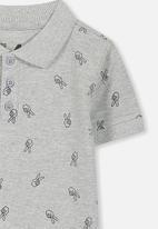 Cotton On - Kenny polo tee - grey