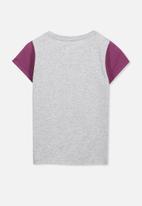 Cotton On - Anna short sleeve tee - grey & purple