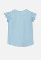 Cotton On - Anna short sleeve tee - blue