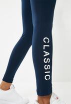 Reebok Classic - Logo leggings - navy