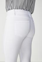 Cotton On - Rise jegging - white