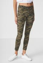 Cotton On - Rise jegging - green