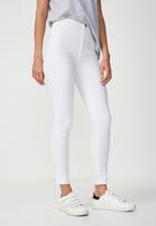 Cotton On - Chill rised jegging - white