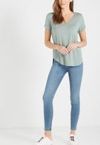 Cotton On - Rise jeggings - blue