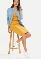 Cotton On - Scooped bodycon midi dress - yellow