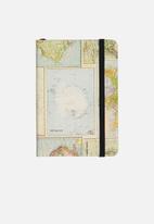Typo - A6 buffalo journal - grid world map