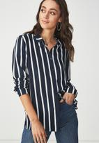 Cotton On - Rebecca shirt - navy & white