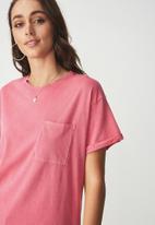 Cotton On - Boyfriend pocket tee - pink