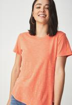 Cotton On - Crew T-shirt - coral