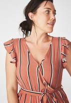 Cotton On - Woven Frankie V-neck culotte jumpsuit - multi
