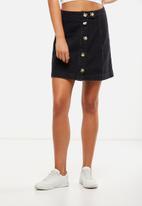 Cotton On - Mini denim skirt - black