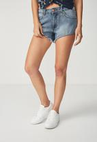 Cotton On - Mid Saturday denim short - blue