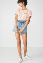 Cotton On - Tbar foxx T-shirt - peach