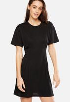 Cotton On - Waisted detail T-shirt dress - black