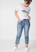 Cotton On - Tbar foxx T-shirt - grey