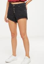 Cotton On - Mid Saturday denim short - black