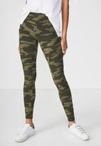 Cotton On - Detail legging - green