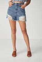 Cotton On - Flashback denim short - blue