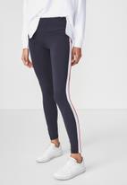 Cotton On - Detail legging - navy & white