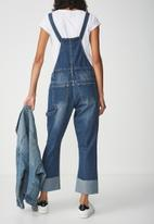 Cotton On - Slim Overall - blue