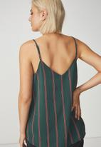 Cotton On - Astred cami - green & coral