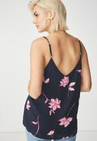 Cotton On - Astred cami - navy & pink