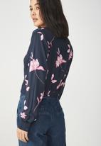 Cotton On - Twist front blouse - navy