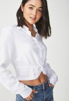Cotton On - Twist front blouse - white