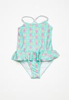 dailyfriday - Kids girls halterneck swimming costume - multi