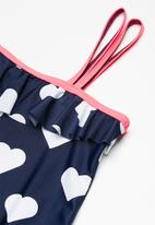 dailyfriday - Kids girls one shoulder swimming costume - multi