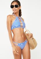 New Look - Asha bikini bottom - blue & white