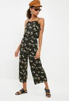 New Look - Carrie lattice side jumpsuit - black