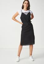 Cotton On - Woven Marce midi slip dress - black