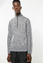 New Look - Tipping grindle zip top - grey & black