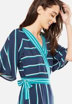 Cotton On - Woven Kassie kimono sleeve jumpsuit - navy