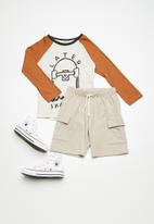 Superbalist - Draw cord utility shorts - beige