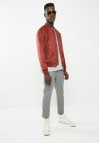 New Look - Suede bomber - red