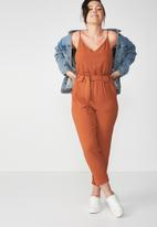 Cotton On - Woven strappy Jackie jumpsuit - orange