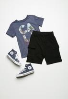 Superbalist - Draw cord utility shorts - black