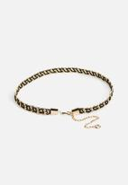 Missguided - Woven chain belt - black