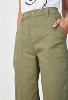Cotton On - Wide leg pants - green